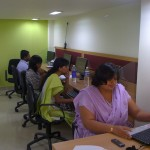 Employees at the Mumbai office